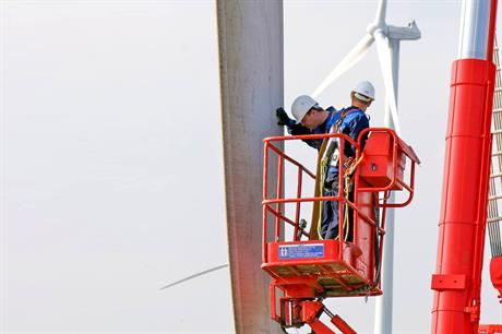 Deutsche Windtechnik won the full maintenance contract at the Buchonia wind project