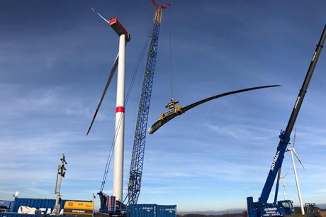 PNE commenced repowering the Gerdau-Schwienau wind farm in June 2018 (pic: PNE AG)