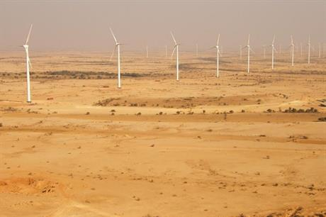 Goldwind turbines at the TGF project in Pakistan