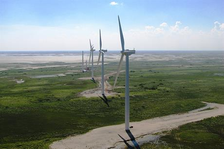Gulf Wind uses 118 Mitsubishi MWT95 2.4MW turbines