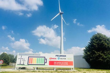 The battery at Peleman's facility is said to be the largest in Belgium