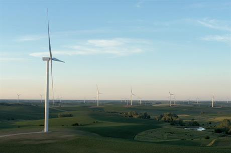 GE Renewable Energy turbines at Ørsted's Plum Creek wind farm in Nebraska, US. It was completed in June 2020