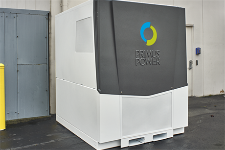 The EnergyPod2 battery system was developed by California-based Primus Power
