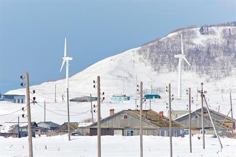 RAO Energy owns turbines in Novikovo village, Sakhalin island, eastern Russia