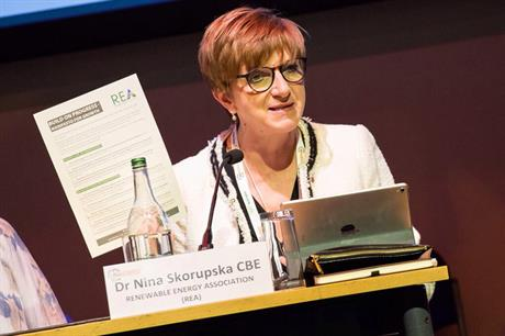 REA chief executive Nina Skorupska presented the manifesto in Glasgow