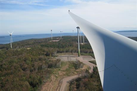 Point Tupper comprises 11 Enercon E82 turbines (pic: NESL)