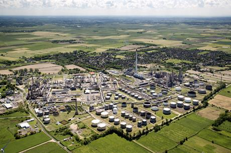 The 30MW pilot electrolyser will be built at Heide's refinery (above) in Schleswig-Holstein, northern Germany