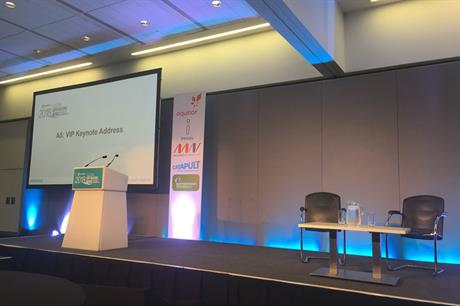 No show... UK junior energy minister Claire Perry was unable to speak at Global Offshore Wind in Manchester (pic: RenewableUK)
