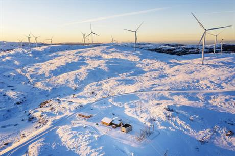 Statkraft's 256MW Roan wind farm in Norway (above) helped boost its production figures in Q4 2018