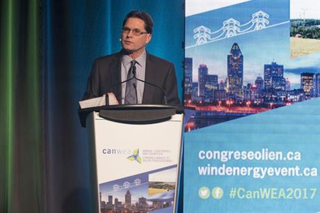 CanWEA president Robert Hornung opens the 2017 conference