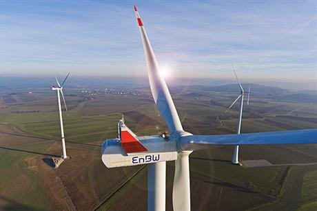The majority of EnBW's 938.45MW of operational wind capacity is in its native Germany