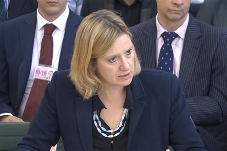 Amber Rudd faced questions from the energy and climate change parliamentary committee