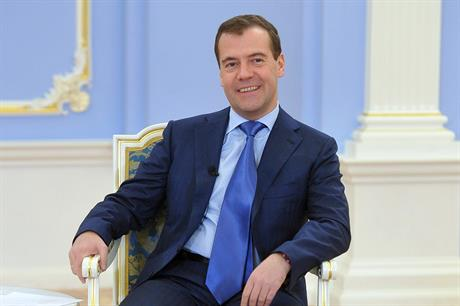 Russia's prime minister Dmitry Medvedev (pic: Government of Russia)