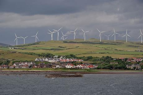 Much of the UK's wind capacity is in Scotland