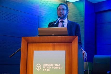 Undersecretary for renewable energy Sebastian Kind made the announcement at the Argentina Wind Power 2018 conference (pic: GWEC)