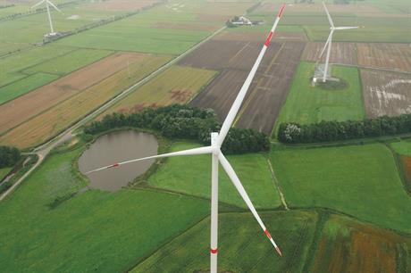 Senvion's 3.6M140 EBC at the Windtestfeld Nord site near Husum, Germany