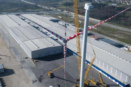 Senvion installed a 3.6MW turbine at its blade manufacturing facility in Portugal