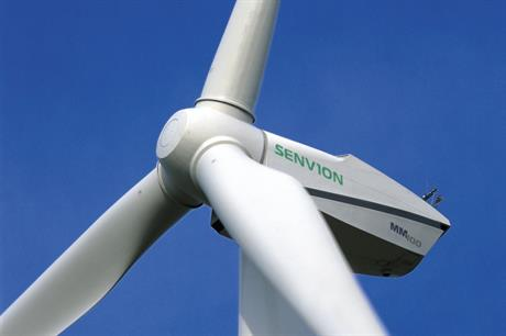 Senvion's MM100 turbine is due to be used at the Alibunar project