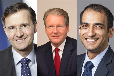 New COO Christoph Seyfarth (left) joins CEO Jurgen Geissinger (centre) and CFO Manav Sharma (right) at Senvion