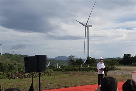 Sidrap 1 was inaugurated on 2 July (pic credit: Siemens Gamesa)