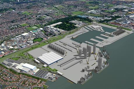 Siemens is building a turbine assembly facility in the Green Port Hull area