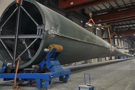 Sinomatech's 77.7-metre blade will be fitted to the Goldwind 6MW offshore turbine