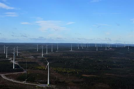 Enercon supplied the 84.4MW Skogberget site, which forms part of the first phase of the Markbygden complex