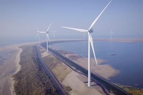 The repowered 50.4MW Slufterdam wind farm on the Dutch coast (pic: Vattenfall)