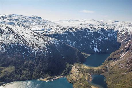 The Sørfjord site in the municipality of Tysfjord is only accessible by boat or helicopter