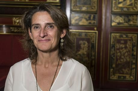 Spain's energy and environment minister Teresa Ribera (pic Casade America)