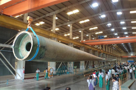 Suzlon's longest yet — the 54.8-metre blade for the S111 turbine