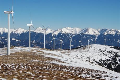 The Tauernwindpark in eastern Austria is among the highest in Europe (pic: Herzi Pinki)