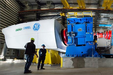 A GE turbine is put through its paces at the NREL test centre