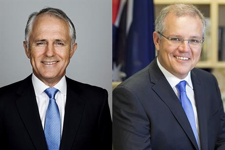 Malcolm Turnbull (left) replaced as prime minister by Scott Morrison (pic: WikiCommons)