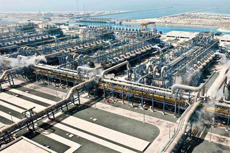 A desalination plant in United Arab Emirates owned by energy firm Taqa Global