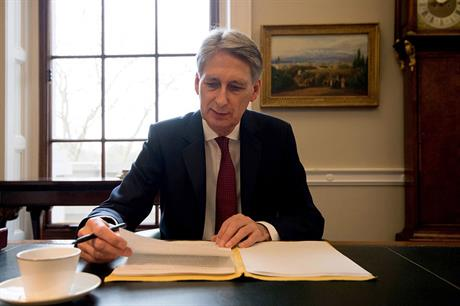 UK chancellor of the exchequer Philip Hammond
