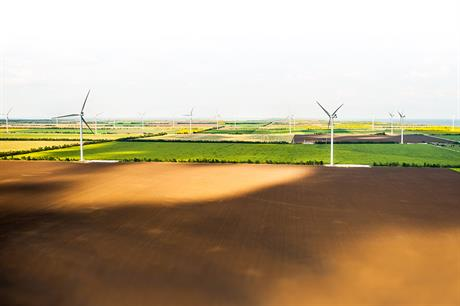 The 200MW Botievskaya project in southeast Ukraine is currently the country's largest wind farm (pic: DTEK)