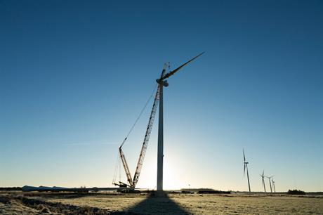 Vestas stopped producing blades for its V136 turbines (above) at the Brighton plant in Colorado earlier this year