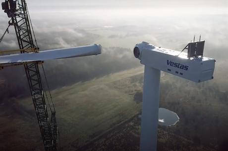 Vestas installed the prototype of its EnVentus prototype this summer