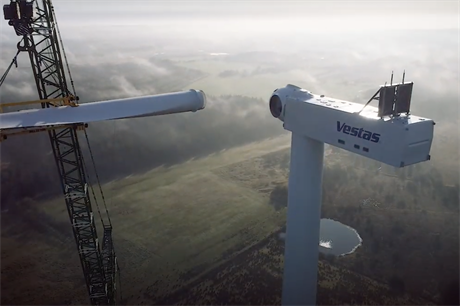 The new V162-6.0MW turbine is being installed next to Vestas' V150-5.6MW prototype that has already been upgraded to 6.0MW