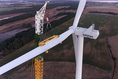 Delivery and commissioning of the four V136-4.2 turbines is expected in the fourth quarter of 2019