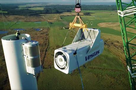 Vestas' first V150-4.2MW turbine is installed at its test site in Østerild, Denmark