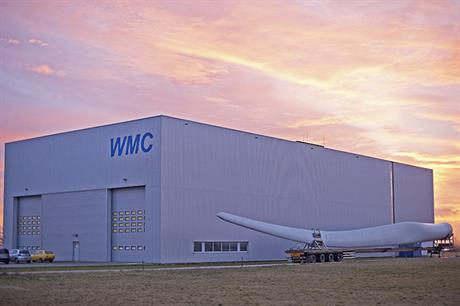 WMC's test facility in Wieringerwerf is about 75 kilometres north of LM Wind Power's Schiphol office