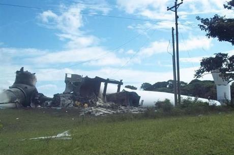 The Suzlon S88 turbine that was destroyed at the Amayo project  (pic: Lesber Quintero)