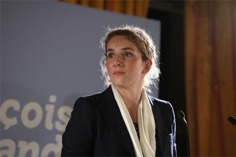 Out... former French energy minister Delphine Batho