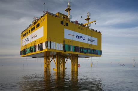 Baltic 2's substation was installed in October