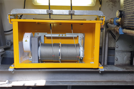 Each individual steel cable unit can carry 282kg