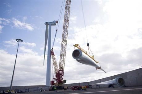 A test model of the turbine was installed in Spain earlier this year