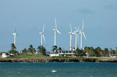 The Gibara wind project uses Goldwind turbines