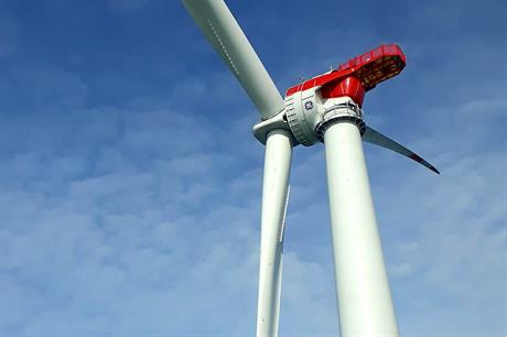 GE Renewable Energy's 6MW Haliade turbine at the Mekur offshore wind site in Germany